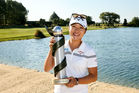 Lydia Ko with the NZ Women's Open trophy. Photo / Getty