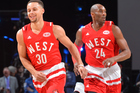 Stephen Curry #30 of the Western Conference All-Stars during the NBA All-Star Game. Photo / Getty Images