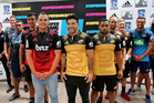 Super Rugby Players during today's launch of the 2016 New Zealand Super Rugby season in Auckland. Photo / Getty Images