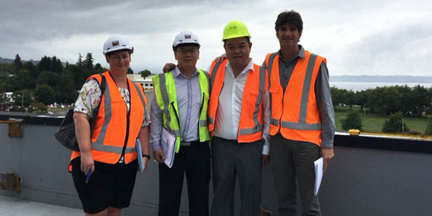 John Chow (second from right) with the design and project management team. PHOTO/SUPPLIED