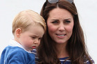 Catherine, Duchess of Cambridge and Prince George. Photo / Getty