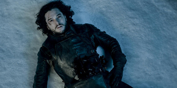 Kit Harrington as Jon Snow in season five of Game of Thrones.