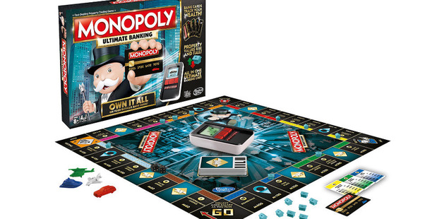 In this version of Monopoly, Monopoly Ultimate Banking Edition users will need to tap the banking unit rather than spend paper money.
