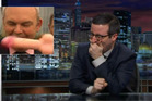 The Steven Joyce incident at Waitangi where he was hit by a dildo has caught the attention of Last Week Tonight host John Oliver, who has featured it on the latest episode. Photo / Supplied