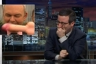 Comedian John Oliver has teamed up with moviemaker Sir Peter Jackson for an inevitable satirical swipe at the dildo-throwing incident involving government minister Steven Joyce.