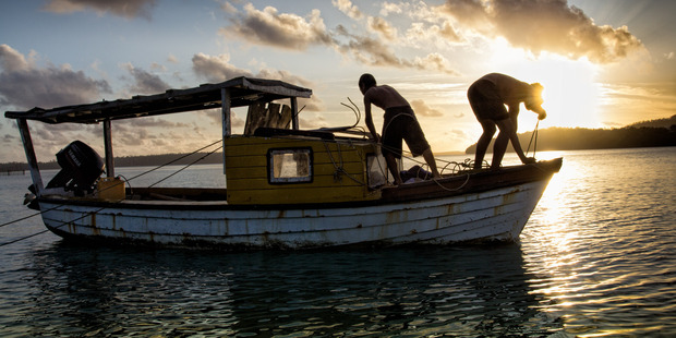 Local fisherman at work. Photo / Tourism Tonga