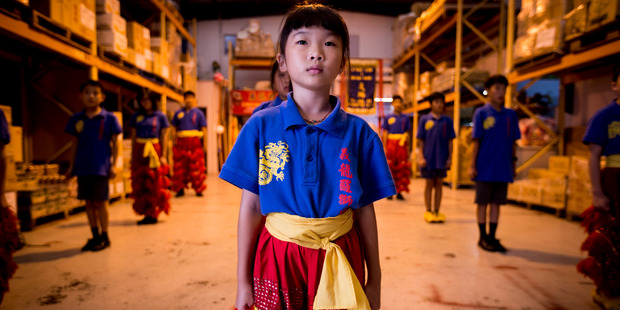Subby Yu age 7 who is part of the E-Pacs Lion and Dragon dance troupe who will be performing at this years Lantern Festival. Photo / Dean Purcell