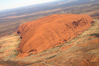 Uluru, seen from the air. Photo / Karyn Lanthois