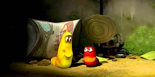 Parents, switch off! Larva operates completely in the realm of child logic. Photo / Supplied