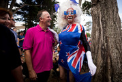 Prime Minister John Key with Daphne Bush during the Big Gay Out held at Coyle Park, Pt Chevalier. Photo / Dean Purcell
