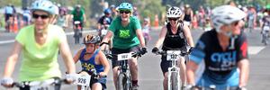 Teresa Wilson, green t shirt centre, and Carole Stabler, right. Photograph by Ben Fraser.