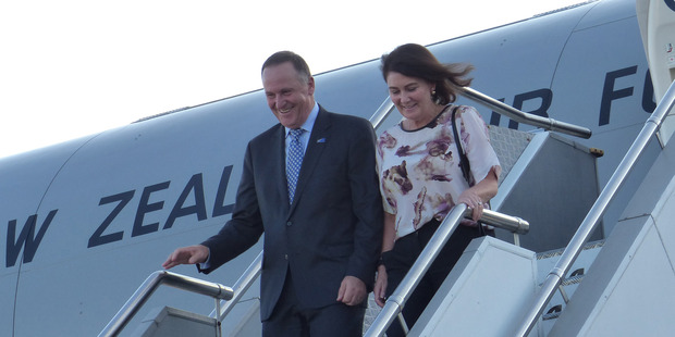 John Key and Bronagh Key arrived in Sydney last night, where they will be the guests of Malcolm Turnbull and his wife, Lucy. Photo / Audrey Young