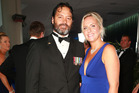 Willie Apiata refused to identify his date at the Halberg Awards but was overheard introducing her as his partner. Picture / Norrie Montgomerie