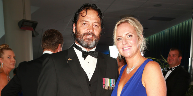 Willie Apiata VC and friend. Photo / Norrie Montgomery