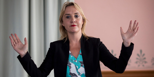 Loading National MP Nikki Kaye holds a meeting at the Ley's Institute in relation to the reform of rules for city apartments. Photo / Dean Purcell