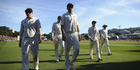 New Zealand leave the ground at stumps during day two of the Test match between New Zealand and Australia at Basin Reserve. Photo / Getty Images.