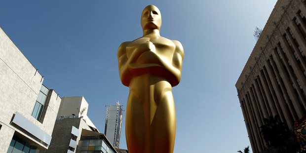 An Oscar statue on the red carpet. Photo / AP