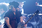 Johnny Depp of Hollywood Vampires performs at the 58th annual Grammy Awards. Photo / Getty Images