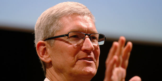 Apple CEO Tim Cook refused to help the FBI break into the iPhone, saying it was a scary precedent to set. Photo / AP