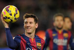 Barcelona's Lionel Messi. Photo / AP.