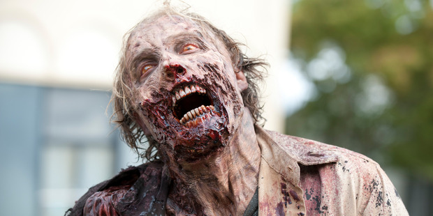 A Walker from the TV show The Walking Dead. Photo / AMC