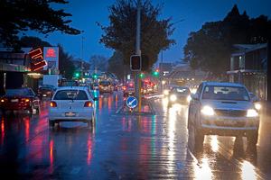 Wet weather in Tauranga.