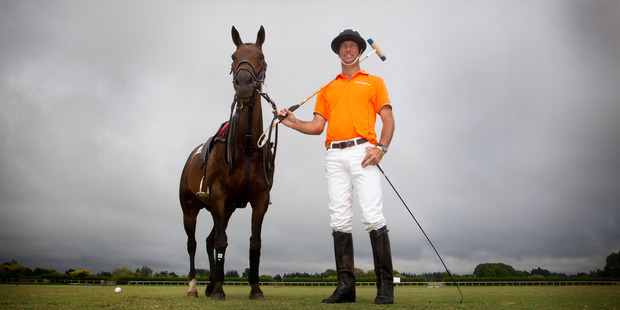 John-Paul Clarkin has travelled to all parts of the world playing polo. Photo / Christine Cornege