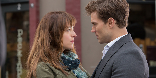 Fifty Shades of Grey stars Dakota Johnson and Jamie Dornan.