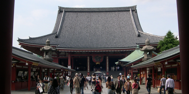 Tokyo's famous Senso-ji temple at Asakusa is a free attraction. Photo / Supplied