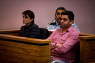 Joti Jain (left) and Rajwinder Grewal being sentenced in the Auckland District Court last year. Photo / Dean Purcell