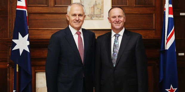 John Key will discuss a wide range of issues with Malcolm Turnbull. Photo / Getty Images