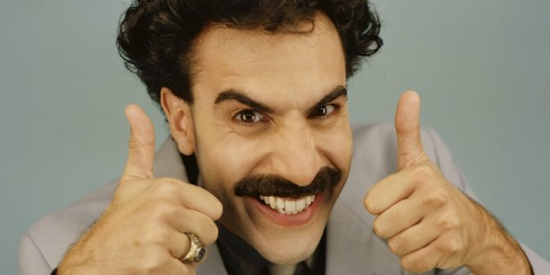 Comedian Sacha Baron Cohen stars in the role of Borat.