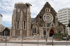 The Christchurch Cathedral which was badly damaged in the Christchurch earthquake. Photo / Mark Mitchell