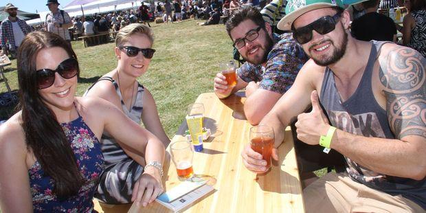Beer lovers enjoying last year's BrewDay in Martinborough. PHOTO/ANDREW BONALLACK