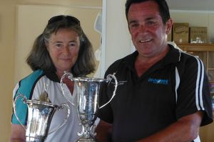 Nina Mayard-Husson and Paul Skinley won the New Zealand champion croquet mixed doubles.