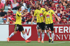 Blake Powell of the Phoenix celebrates scoring a goal during the round 19 A-League match between the Western Sydney Wanderers and the Wellington Phoenix. Photo / Getty Images.
