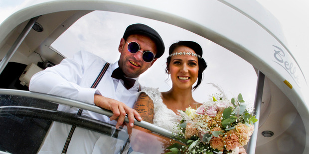 The Art Deco themed wedding of Paul Wise and Natalie Eliasson will be one to remember. Photo / Warren Buckland