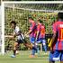 Fabien Kurimati scores for United. Photograph by Warren Buckland