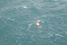 A man used a petrol container to keep afloat until he was rescued.