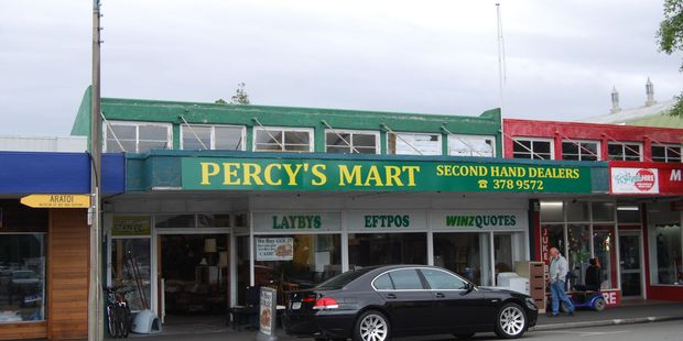Drunks smashed the window of Percy's Mart with a trolley on Tuesday night. PHOTO/ALISA YONG