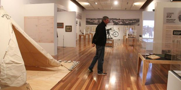 A visitor checks out the Featherston Camp centenary exhibition at Aratoi Museum. PHOTO/FILE