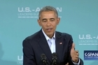 """I continue to have faith in the American people. And I think they realise that being president of the United States is a serious job. It's not hosting a talk show,"" Obama said at a news conference in Rancho Mirage, California."
