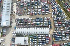 Cool aerial view of the property occupied by an automotive recycling company at 27 Kopu Rd near Thames.
