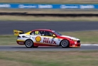 Fabian Coulthard was impressed with the new Ford Falcon FG X this week at Ipswich. Photo / Edge Photographics