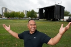 Lakeside MC Russell Harrison where the stage will be this year. Photo / Ben Fraser