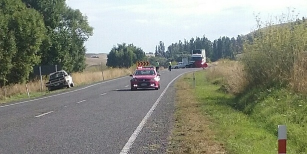 FATAL: A motorist died after a crash between a truck and two cars on SH2, south of Hastings. PHOTO/ Paul Taylor