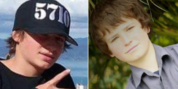 The youth is charged with dangerous driving causing the deaths of Hoani Korewha (left) and Pacer Willacy-Scott (right), both 15, on January 31. Photo / Facebook