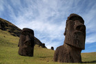 Moai, or Easter Island's enigmatic statues, at the Rano Raraku quarry on Easter Island in 2013. Photo / Chaney Kwak, The Washington Post