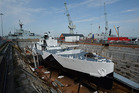 The restored HMS M33 Minerva in Portsmouth's Historic Dockyard. Photo / Getty Images