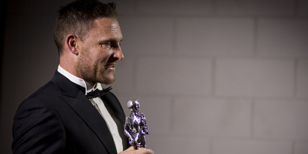 Brendon McCullum received a Sport NZ Leadership Award at the 53rd Halberg Awards. Photo / Dean Purcell.
